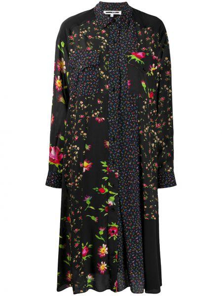 Платье миди облегающее с цветочным принтом Mcq Alexander Mcqueen