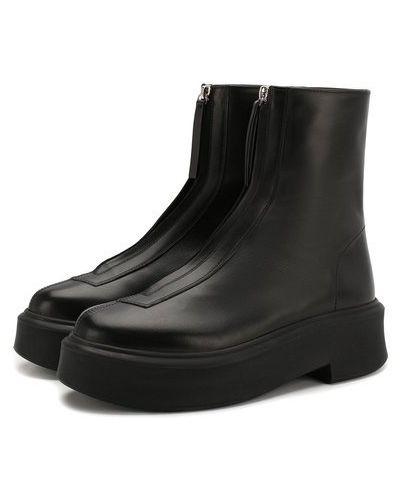 Кожаные кожаные ботинки на молнии матовые The Row