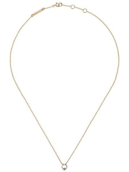 Ażurowy biały złoty naszyjnik Delfina Delettrez