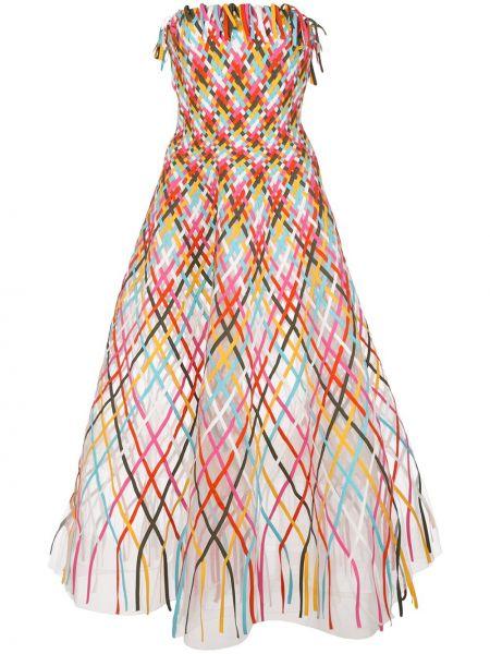 Кожаное платье Oscar De La Renta