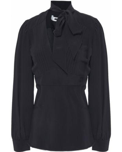Шелковая черная блузка на пуговицах Mcq Alexander Mcqueen