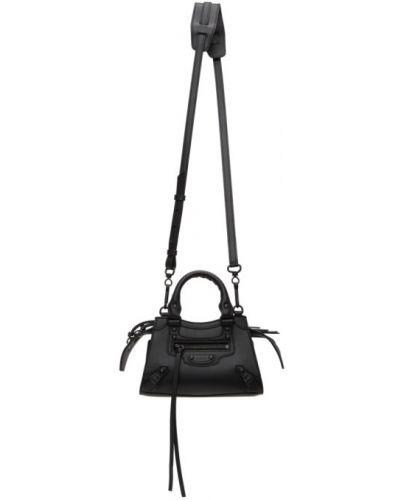 Klasyczny czarny top z kieszeniami z łatami Balenciaga