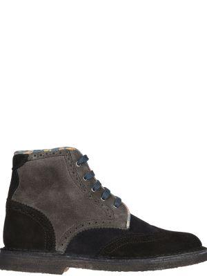 Кожаные ботинки на каблуке осенние Gianni Famoso