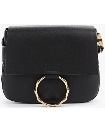 Черная кожаная сумка с перьями Marks & Spencer