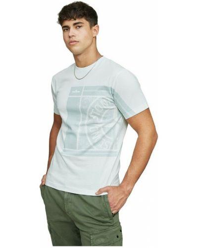 T-shirt bawełniana - zielona Stone Island