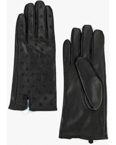 Черные кожаные перчатки Befree