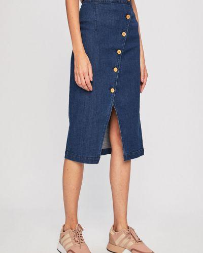 Джинсовая юбка на пуговицах макси Vero Moda