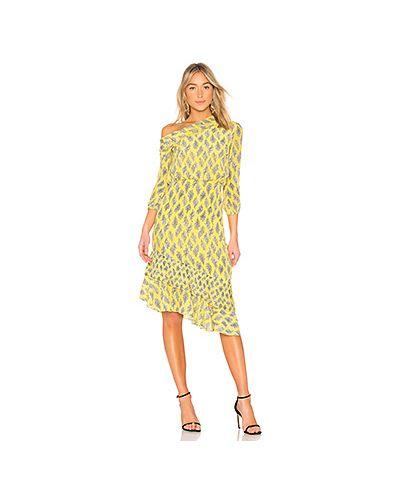 Платье плиссированное со складками Saloni