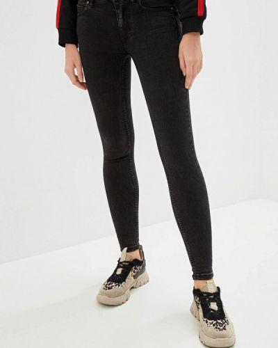 Черные джинсы-скинни с пайетками Alcott