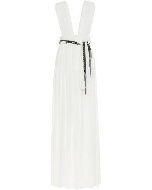 Теплое платье шелковое Saint Laurent