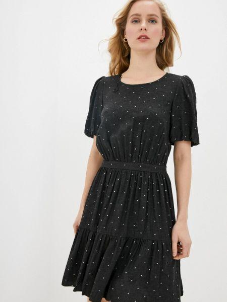 Платье серое прямое Naf Naf