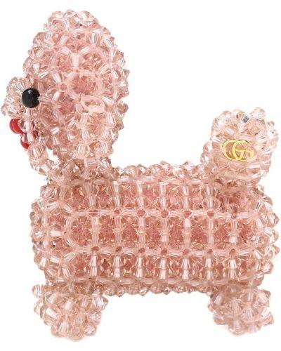 Różowa broszka Gucci
