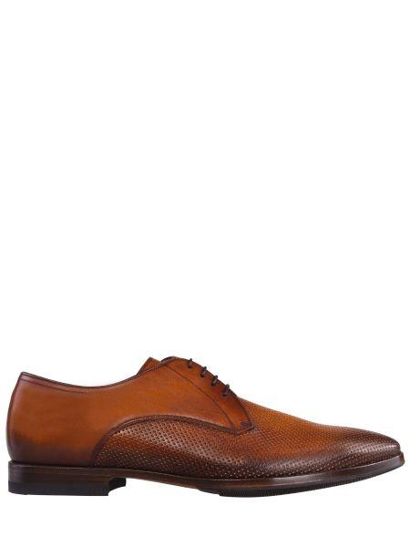 Кожаные классические классические туфли на каблуке на шнуровке Franceschetti