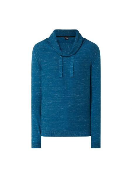 Sweter bawełniany - turkusowy S.oliver Red Label