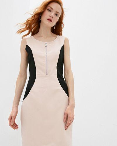 Розовое платье-футляр Trussardi