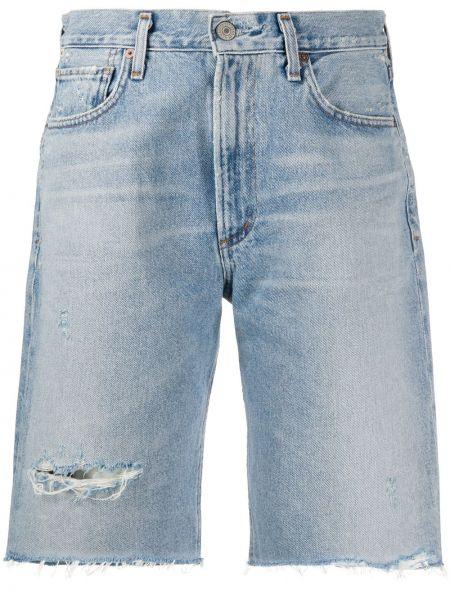 Джинсовые шорты с карманами на пуговицах Citizens Of Humanity