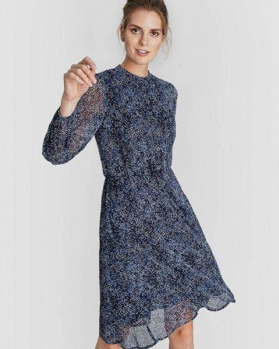 Синее прямое платье O'stin