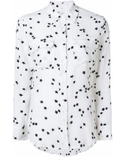 Рубашка с длинным рукавом белая с принтом Equipment