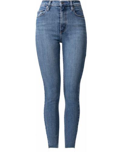 Облегающие джинсовые синие зауженные джинсы Nobody Denim