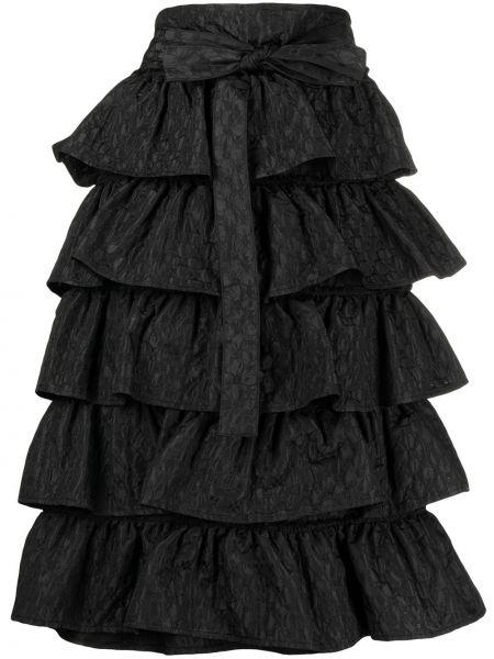 Z wysokim stanem czarny spódnica midi z haftem Comme Des Garçons Tricot