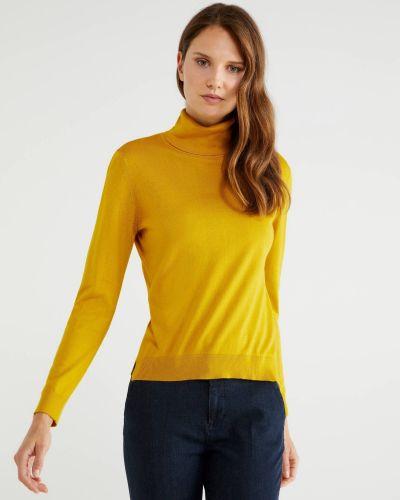 Желтая хлопковая кофта United Colors Of Benetton