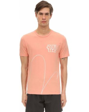 Prążkowany brązowy t-shirt Oakley X Jeff Staple