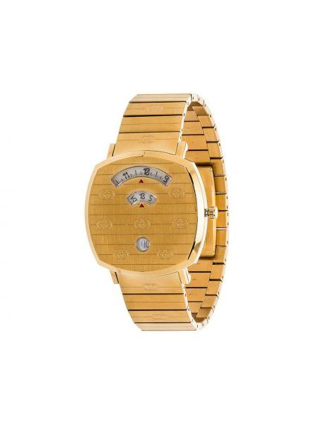 Złoty zegarek kwarcowy kwarc Gucci
