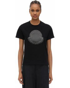 Рубашка с воротником-стойкой с заплатками Moncler Genius