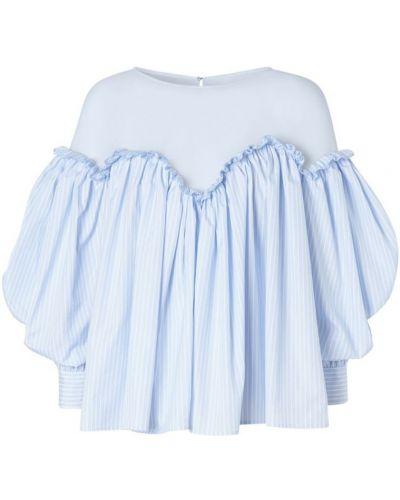 С рукавами синяя блузка из вискозы Burberry