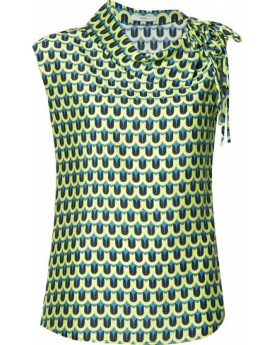 Блузка с воротником-стойкой асимметричная Tome