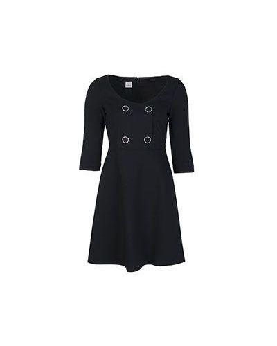 Черное платье из вискозы Pinko