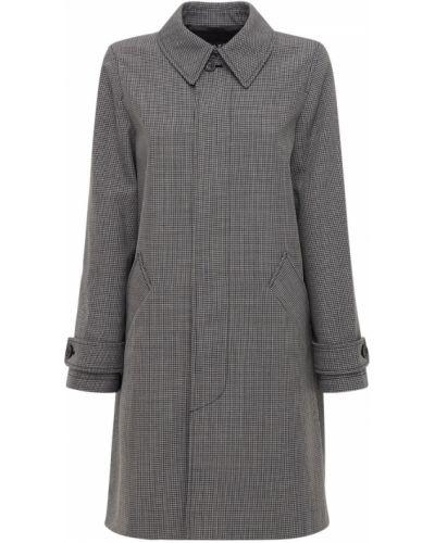 Шерстяное серое пальто с воротником на пуговицах A.p.c.