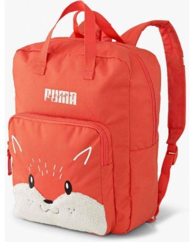 Текстильный оранжевый рюкзак Puma