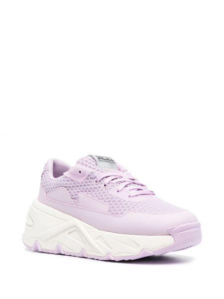 Розовые массивные кроссовки сетчатые Diesel