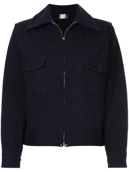 Классическая синяя куртка с манжетами на пуговицах Fake Alpha Vintage