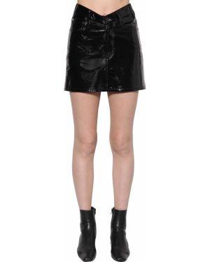 Кожаная юбка с завышенной талией с карманами Balenciaga