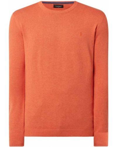 Prążkowany pomarańczowy sweter dzianinowy Bruun & Stengade