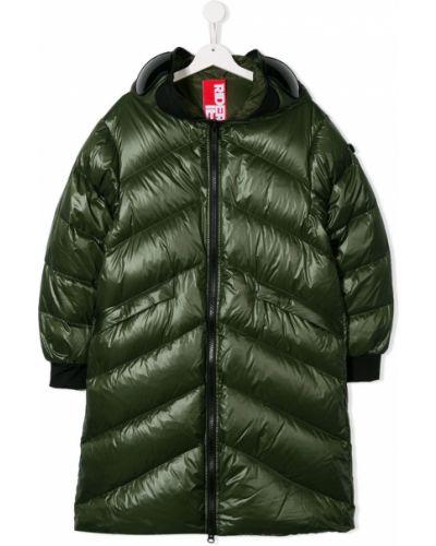 Пуховое зеленое длинное пальто Ai Riders On The Storm Kids