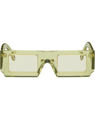 Okulary srebrne - zielone Jacquemus