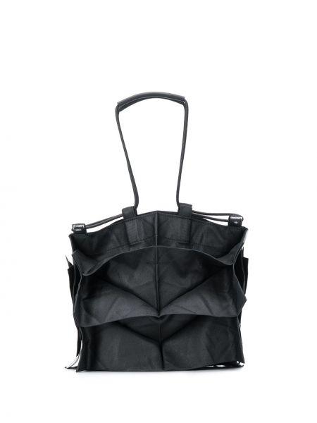 Czarna torebka mini z printem 132 5. Issey Miyake