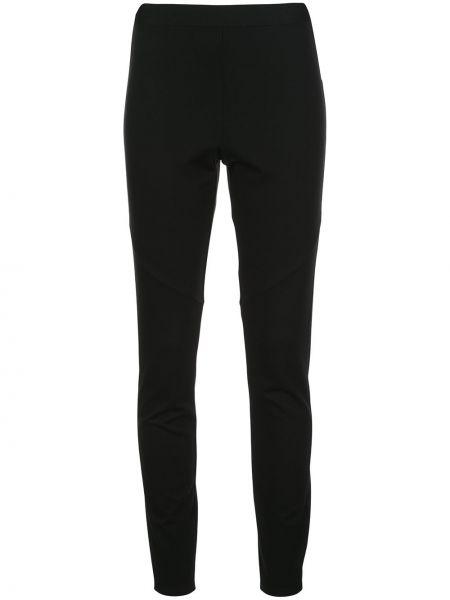 Нейлоновые черные зауженные брюки со вставками Natori