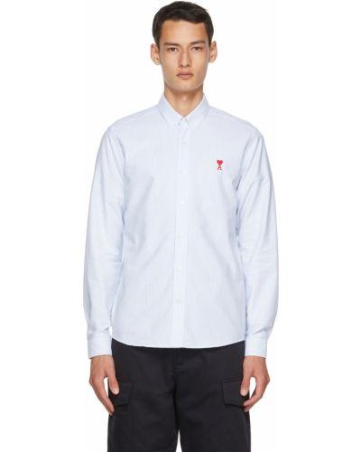 Biała koszula z haftem - biała Ami Alexandre Mattiussi