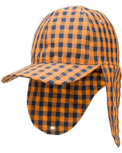 Pomarańczowa czapka z printem David Catalan