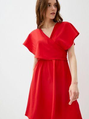 Красное платье с запахом Naf Naf