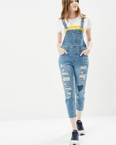 Голубой джинсовый комбинезон Befree