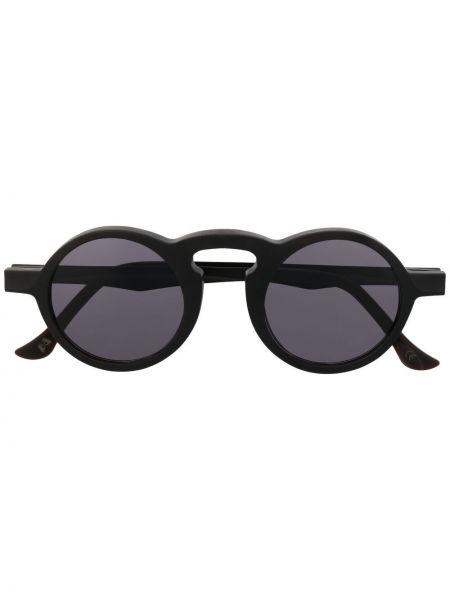 Черные солнцезащитные очки круглые Uma Wang