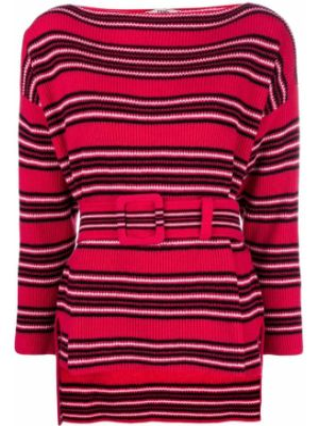 Красный кашемировый свитер в рубчик Fendi