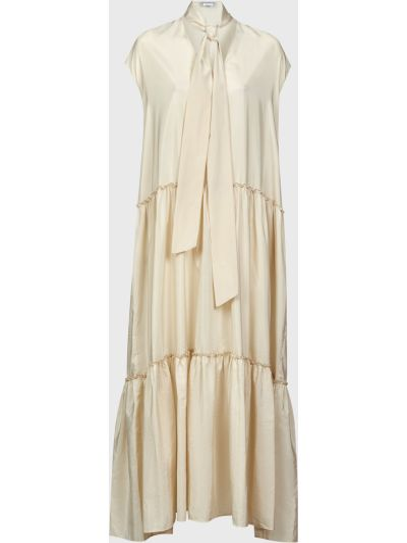 Бежевое шелковое платье Ballantyne