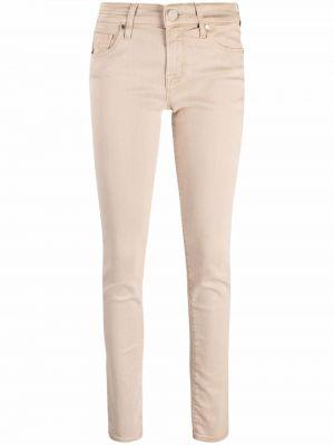 Хлопковые джинсы - бежевые Jacob Cohen