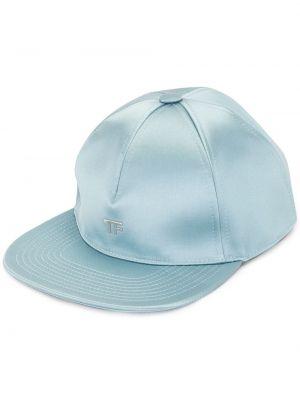 Синяя бейсболка металлическая Tom Ford